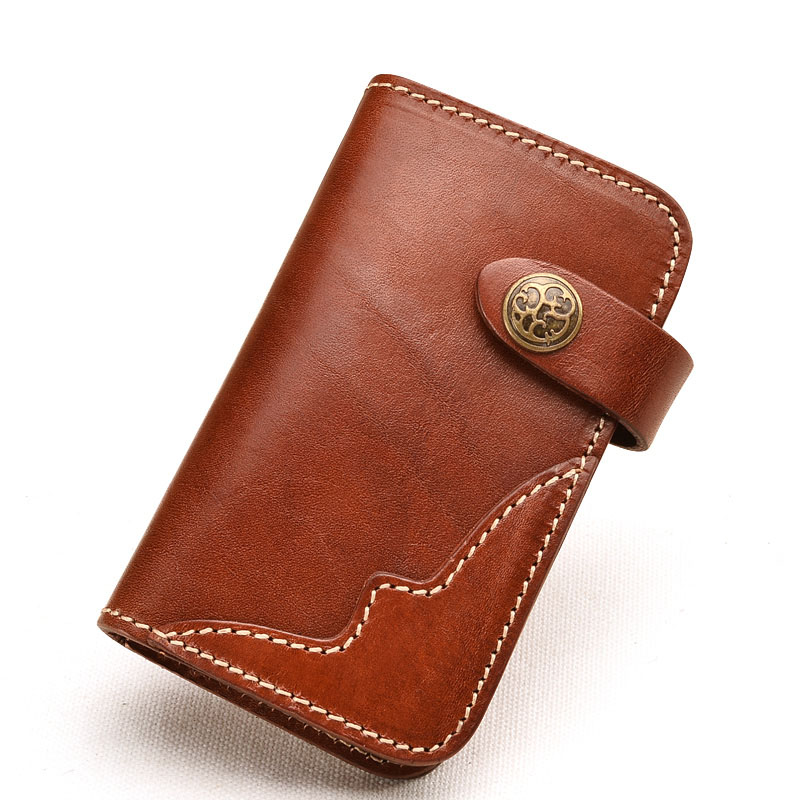Difenise Brand new Design Vegetable tanning Cowhide Genuine Leather Unisex key chain Wallets Fashion and pillow shape Key Wallet(China (Mainland))