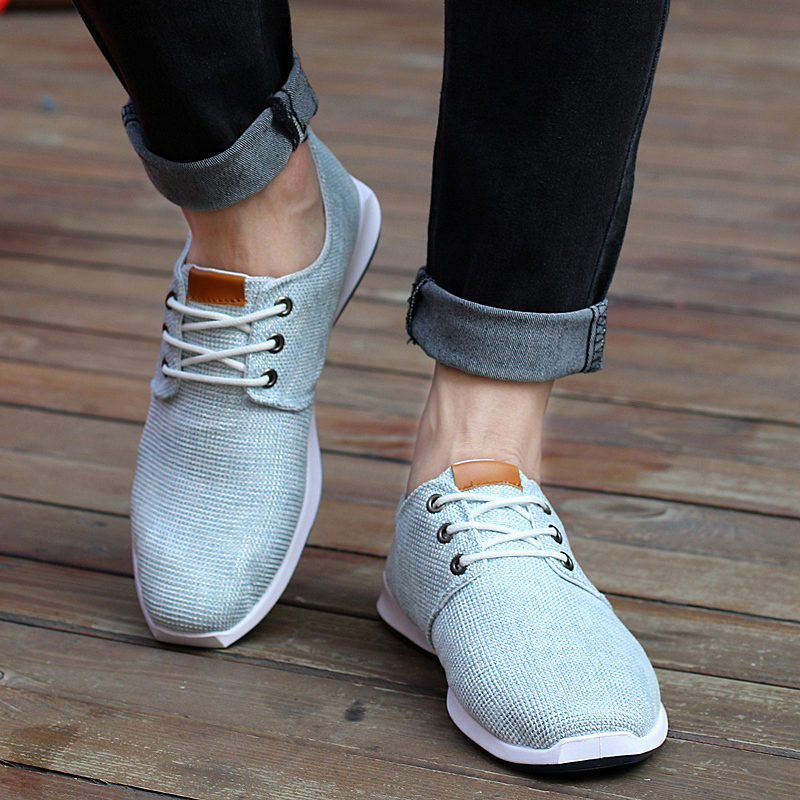 2015 new Spring summer men canvas sport running shoes trend lace up breathable sneakers flats M998