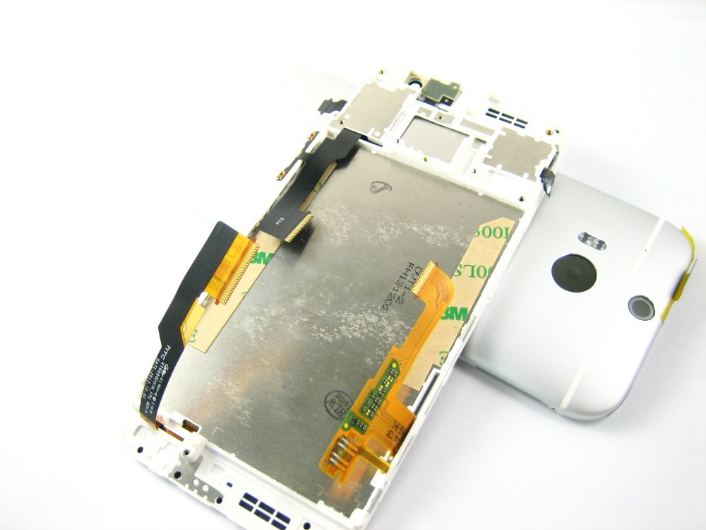 Replacement Front Full LCD Display + Touch Screen Digitizer + Frame with Back Cover Housing for HTC One M8 White