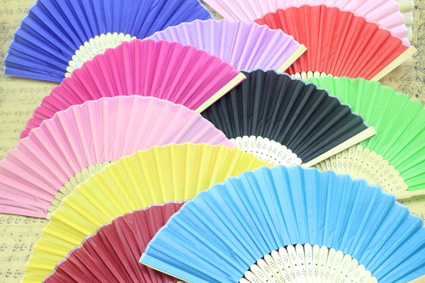 (500 pieces/lot) New solid color wedding fans Advertising and promotional hand fans Fancy event and party gifts(China (Mainland))