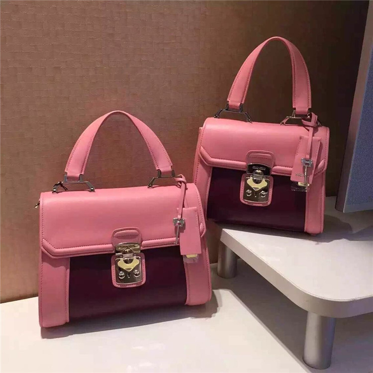 2015 Hot Popular Fashion genuine leather lamp skin OL double handle hand bag ems dhl free(China (Mainland))