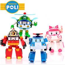 4pcs/Set Robocar Poli Toy Korea Robot Car Transformation Toys Best christmas Gifs For Kids toys(China (Mainland))