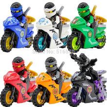 Super Heroes Ninja Motorcycles Minifigures Jay/Lloyd/Zane/Garmadon 6pcs/lot Building Blocks Sets Model Figure Toys For Children