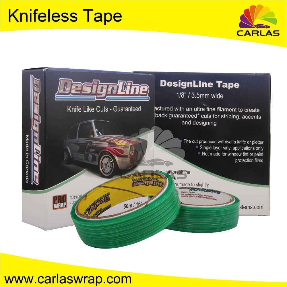 26 dollars Free Shipping Vehicle Body Knifeless Tape Roll Finishing Vinyl for Carlas Car Wrap Tools(China (Mainland))