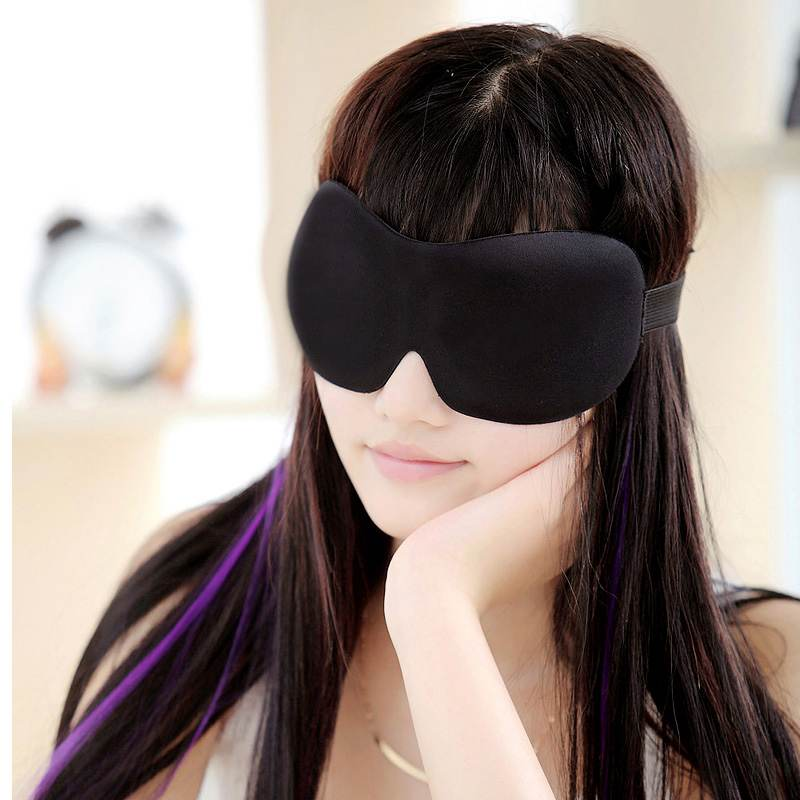 1PCS Men Women 3D Sponge Eyeshade Sleeping Eye Mask,Travel Sleep Aid Eye Cover Patch Sleeping Mask Light Weight Sunblock xd8A