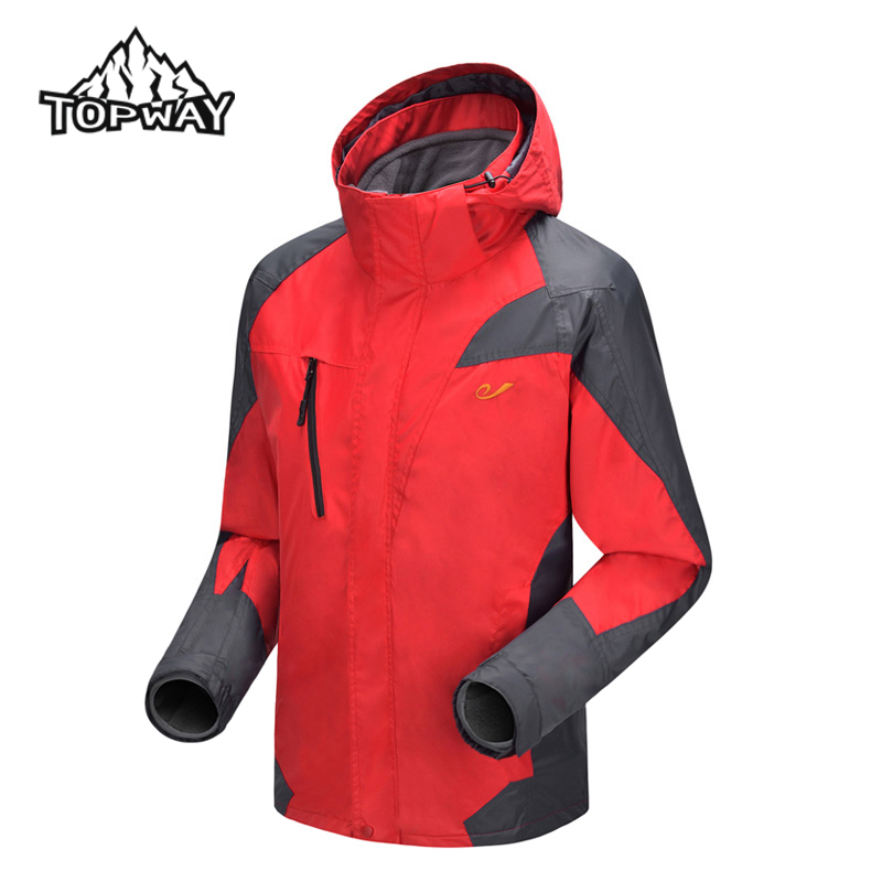 Free Shipping NEW Men OUTDOOR Waterproof 3in1 Jacket Camping Mountaineering Jacket Sport Snowboard Men Thermal Coat CT1322(China (Mainland))