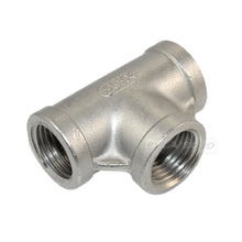 "Brand New 1/2"" Tee 3 way Threaded Pipe Fittings Stainless Steel SS 304 Female x Female x Female New High Quality(China (Mainland))"