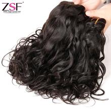 8a Grade ZSF Hair Brazilian Hair Weave Bundles 4 Bundles Natural Wave Virgin Hair Water Wave Wet And Wavy Human Hair Extensions(China (Mainland))