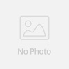 White simple embroidery muslim wedding dresses satin high