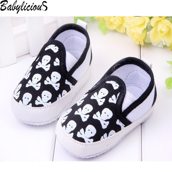 Fashion Spring&Autumn Baby Shoes Cool Skull Antiskid Toddlers Shoes First Walkers Free & Drop Shipping