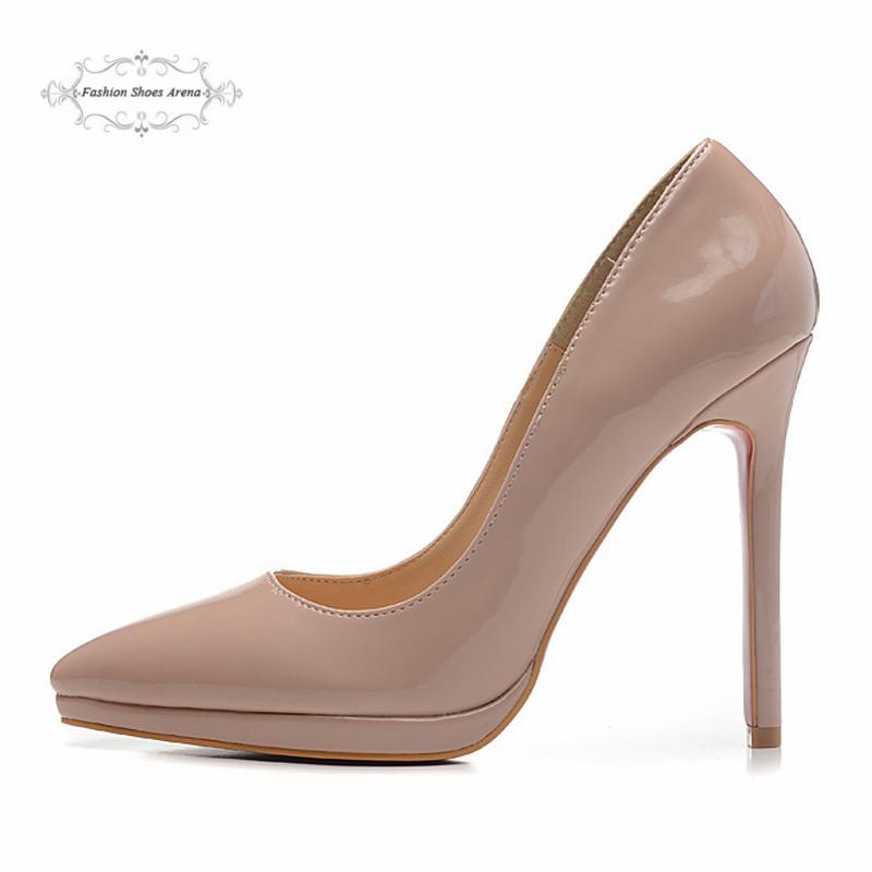 Гаджет  2014 New Arrived Women Red Bottom Genuine Leather Double Platform Pointed Toe Pumps,Ladies 12cm Size:35-41 High Heel Dress Shoes None Обувь