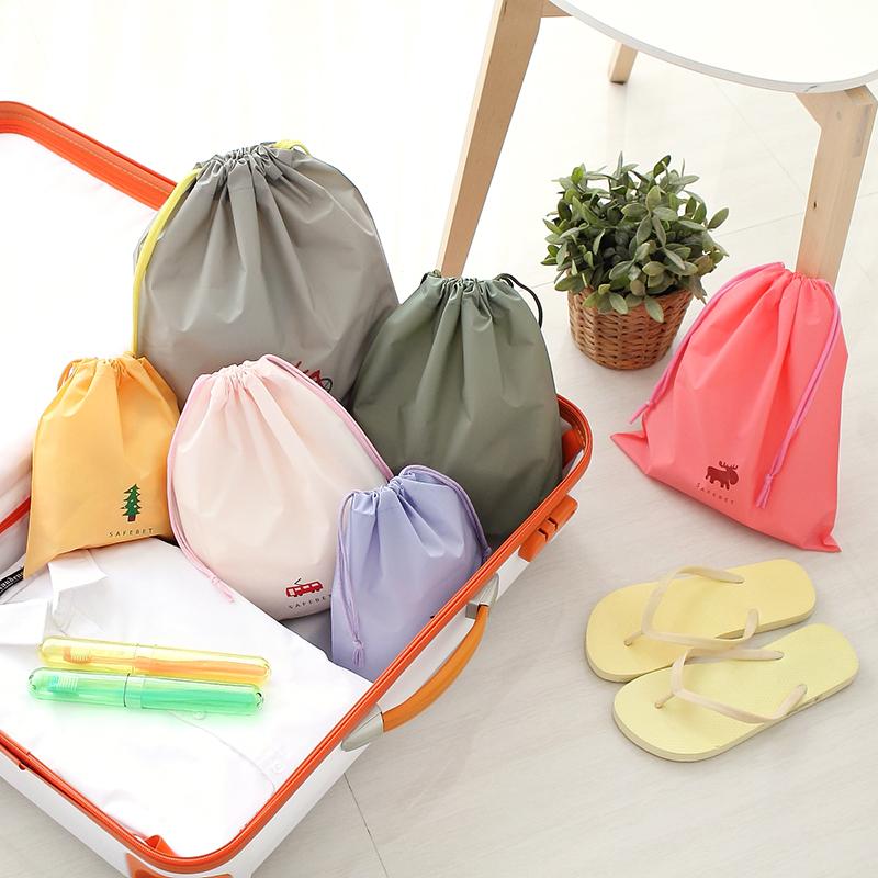 Cartoon Design Draw String Bag Travel Clothe Sorting Storage Bag Lingerie Beam Port Bag Pull On Rope Bag Clothes Organizer(China (Mainland))