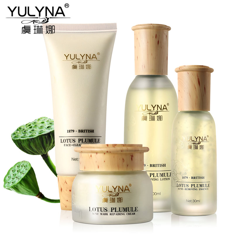 YULYNA Lotus Plimule Skin Care Sets Reduce Scars Pimples Acne Treatment Moisturizing Whitening Anti Winkles Aging Cream Beauty - Beautiful bosom friend Store store
