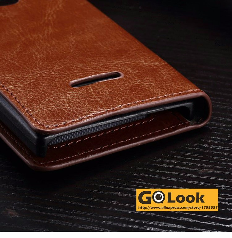 Vintage Wallet PU Leather Case for Microsoft Nokia Lumia 435 with Stand and Card Holder Phone Bag Luxury Flip Cover Brown White
