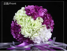 White Wedding Bouquet Artificial Rose Flowers,Bridal Throw Bouquet, Bridal Bouquets 30 flowers Wedding Bouquet Hand Flower FW160(China (Mainland))