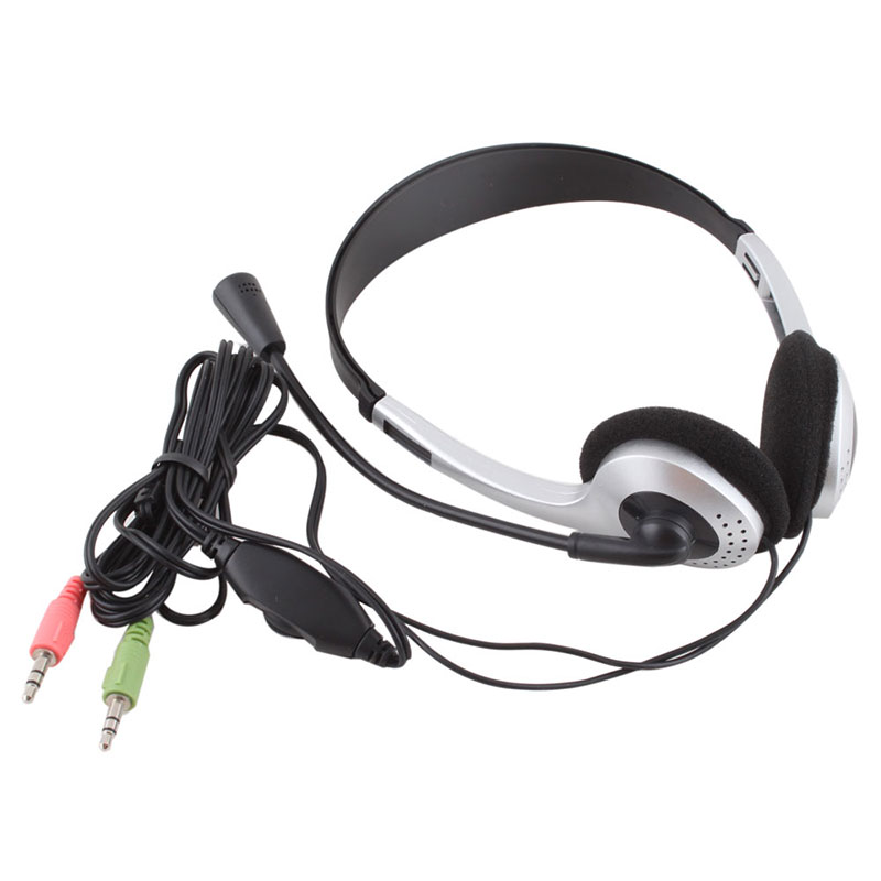Cheap Gaming Headset Wired Earphone 3.5mm Stereo VOIP Headphone With Microphone Headband MIC Skype for PC Computer Laptop #21228(China (Mainland))