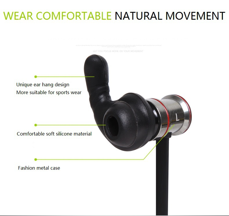 HUAST BTH-816  Luxury Bluetooth Headset Wireless Earphone Headphone Bluetooth earpiece Sport Stereo Earbuds with Microphone