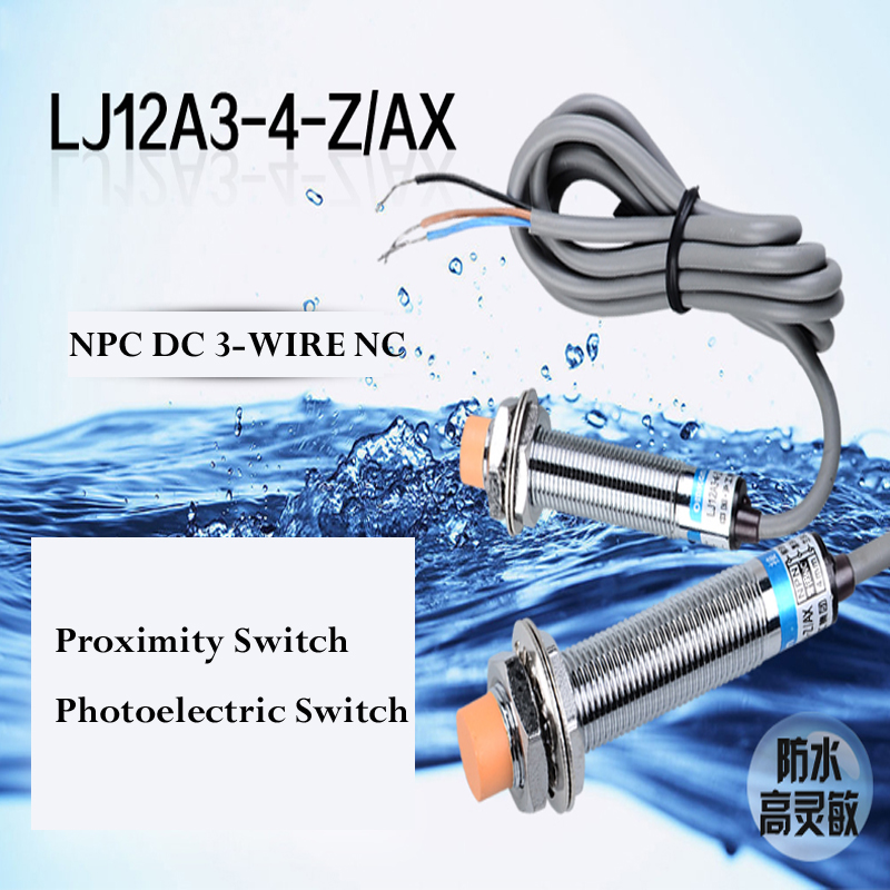 10pcs M12 Proximity switch sensor NPN 3-wire NC DC6-36V Detection Switch sensor LJ12A3-4-Z/AX Approach Sensor Detection 4mm(China (Mainland))
