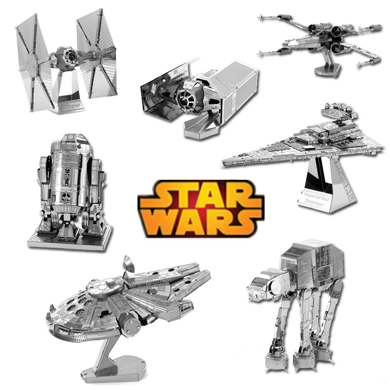 Hot Sale 2015 Star Wars 3D metal puzzle model toys for children free shipping world Spain USA Brazil Russia South Korea(China (Mainland))
