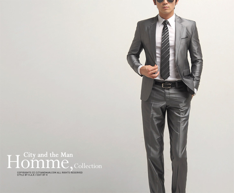 20-Free Shipping New 2015 man suit classic Fashion grooms man suits! Men's Blazer Business Slim Clothing Suit And Pants