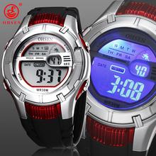 Nueva OHSEN Digital Mens Boys reloj del deporte los niños alarma fecha día cronógrafo 7 colores LED Back Light caucho impermeable reloj