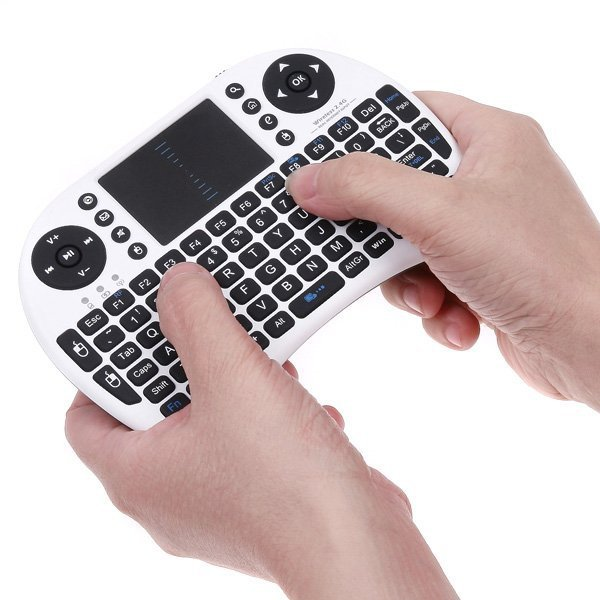 Hot sale 5pcs/lots 2.4G Wireless Mini Keyboard with Touchpad +Multi-media key for Android Mini PC set Top box