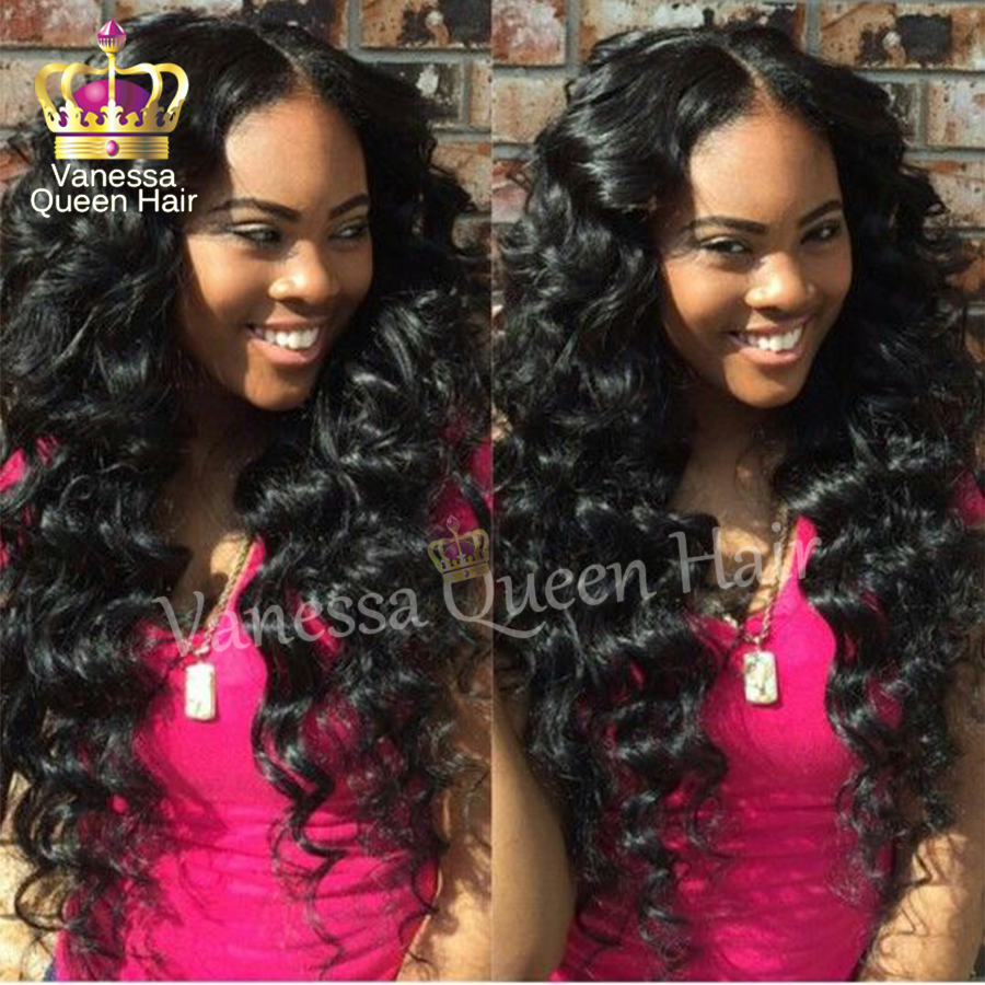 Lace Front Wig brazilian hair heat resistant synthetic lace front wig glueless body wave lace wig for black women free shipping<br><br>Aliexpress