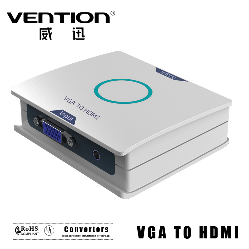 3RCA CVBS Composite Video AV to HDMI Converter Adapter Support NTSC/PAL For PC Blu-ray DVD Vention(China (Mainland))