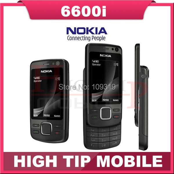 6600I slider Original Unlocked Nokia 6600i mobile phone quad band phone FM bluetooth 5MP JAVA Free shipping Refurbished(China (Mainland))