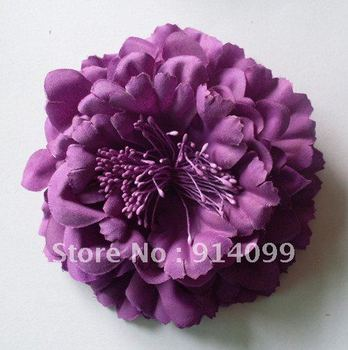"4.3"" Top Selling Large silk peony Flowers Without Clips 6Colors 24Pcs Free Shipping(mixed available)"