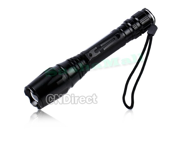 Free Shipping 1600 Lumen LM XM-L T6 LED Rechargeable Zoomable Focus Flashlight Torch 36(China (Mainland))