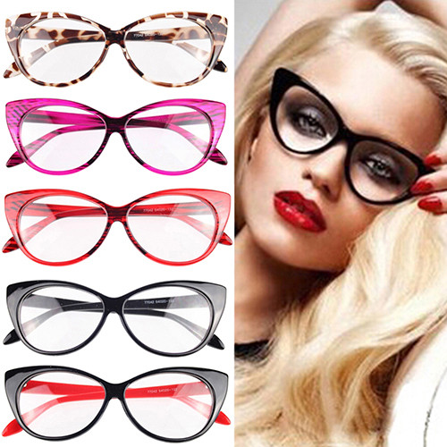dcc41bc6f1 2019 Wholesale 2016 Women Classic Sexy Vintage Cat Eye Shape Plastic ...