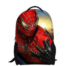 2015 fashion gift cartoon backpack with zipper fashion style boy cool spiderman bag school for kid