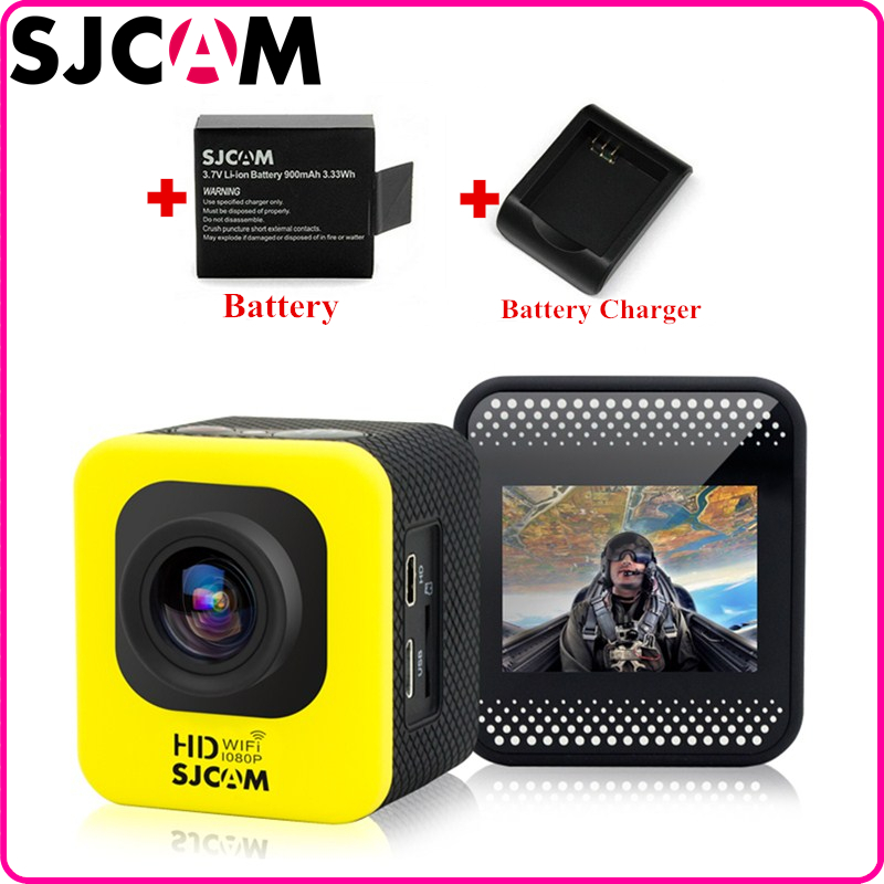Фотография Original WIFI SJCAM M10 Action Sport Camera waterproof HD 1080P Novatek96655 170 Lens +Extra 1pcs Battery+Battery Charger