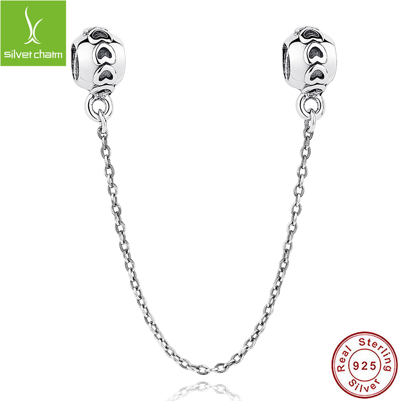 Genuine 925 Sterling Silver Love Connection Safety Chain Charm Fit Original Pandora Bracelet Pendant Authentic Jewelry<br><br>Aliexpress