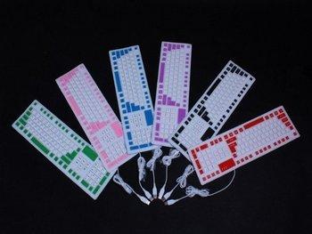 Wholesale Price 106-key Flexible Foldable Super Slim Lighting Silicone Keyboard,Free Shipping