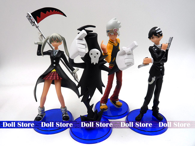 4pcs/LOT PVC 13-14CM Soul.Eater action figure Japanese anime figure kids toys doll for collection(China (Mainland))
