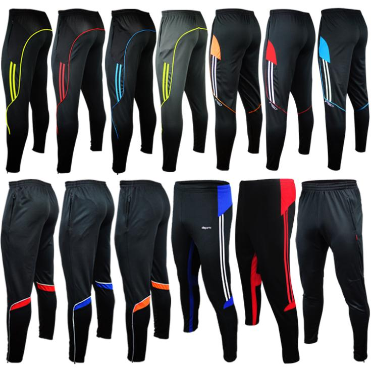 jogger pants football training 2015 soccer pants active sweatpants jogging homme trousers sport running track GYM mens Joggers(China (Mainland))