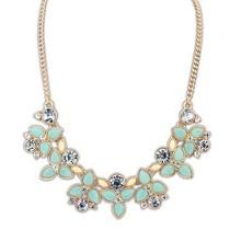 ABC  2014 New Fashion Brand Designer Chain Choker Vintage Rhinestone Necklace Bib Statement Necklaces & Pendants Women Jewelry(China (Mainland))