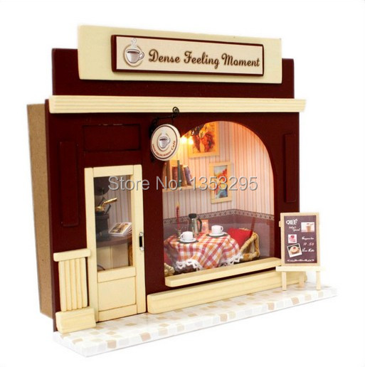 Dense feeling moment - DIY Doll house with furniture wooden building 3D puzzles DIY birthday gifts collection(China (Mainland))