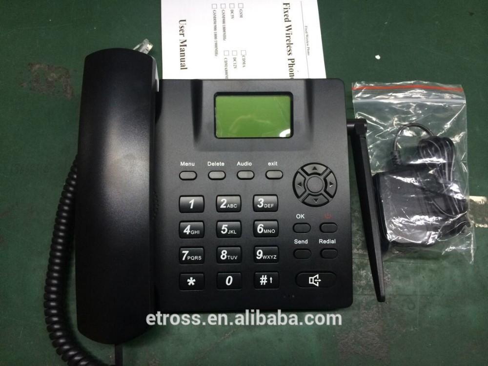 Etross or OEM FWP6188 gsm sim card telephone / fixed wireless phone / analogue PSTN telephone(China (Mainland))
