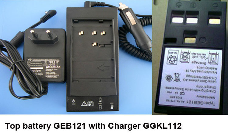 Wholesale /Retail New Charger G GKL112 with High Quality Top Battery GEB121 for TPS1200 Surveying