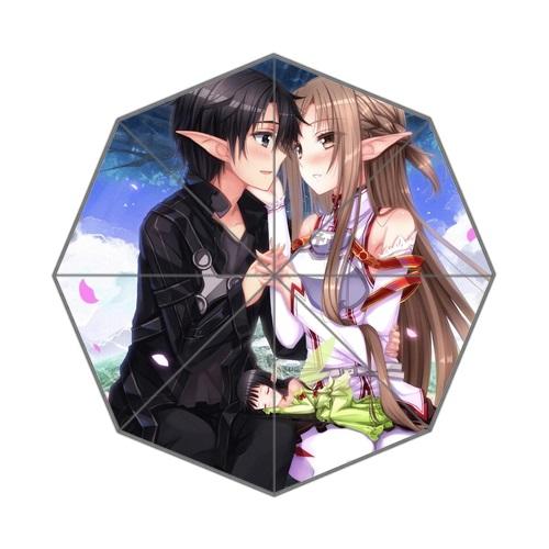 Personality Women's Sun Umbrellas Mini Parasols Printed Anime Sword Art Online Umbrella For Young(China (Mainland))