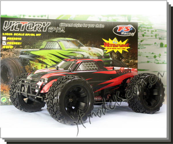 FS Victory 1/10 Brushless Monster Truck / 1-10TH Scale EP/BLMT / RC model car / 2.4G 4WD(China (Mainland))