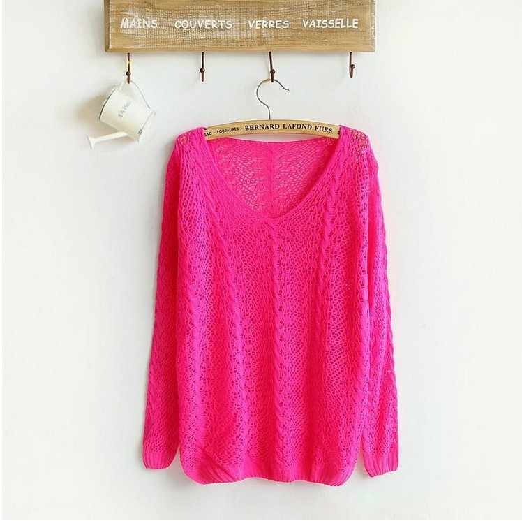 Brand women knitting sweater candy colors famale casual sweater retail knitwear 2015 hot sale women pullovers F611(China (Mainland))