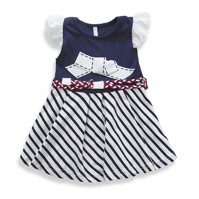 Wholesale 5pcs/lot baby dress casual girl clothing baby girls clothes sleeveless babi girl dress striped vestidos with sashes<br><br>Aliexpress