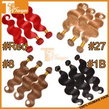 Cheap Aliexpress 5A+ Peruvian Virgin Hair Body Wave Remy Human Hair Weaves 3-4pcs Red Black Brown Blonde Hair Extensions(China (Mainland))