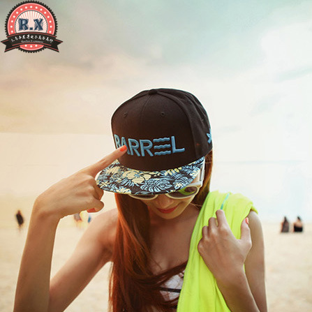 2015 NewHan edition tide female new BARR letters flat along the cap Hip hop dance fluorescent color baseball cap If you find(China (Mainland))