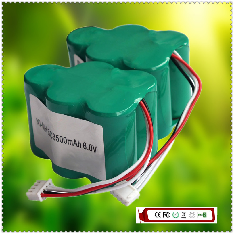 2PCS X 6V 3.5Ah NIMH Vacuum Cleaner Battery for ECOVACS DEEBOT TD710/720/730/530/630 Series(China (Mainland))