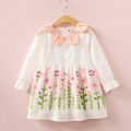 VORO BEVE Girls Dress 2017 Embroidered Kids Dresses For Girls Baby Clothes Toddler Girl Clothing Princess